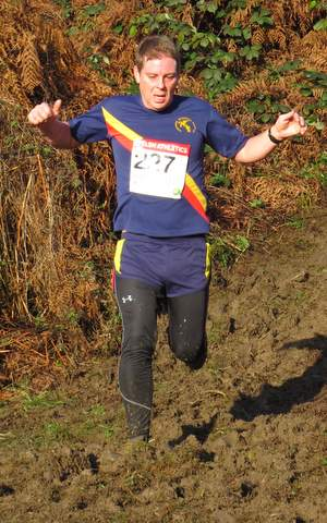 Masters Builth Cross country Ricky Francis 2014