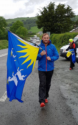 castles relay support flag man 2017