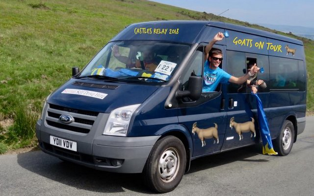 castles relay 2018 goats on tour
